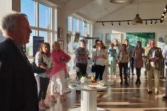 Committee Member Martin Cooke Opening the Art Exhibition